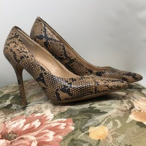 Top shop faux snake skin heels
